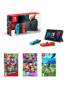 nintendo-switch-neon-red-blue-console-with-super-mario-odyssey-mario-kart-8-and-legend-of-zelda