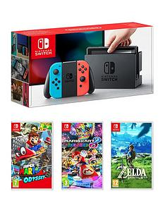 nintendo-switch-switch-neon-red-blue-console-with-super-mario-odyssey-mario-kart-8-and-legend-of-zelda