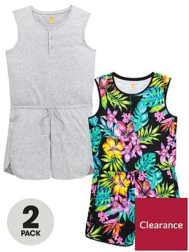 v-by-very-girls-2-pack-tropical-playsuit-multipack