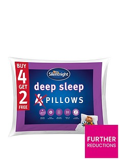 Silentnight Deep Sleep Pillows - Set of 4 (plus 2 extra FREE!)