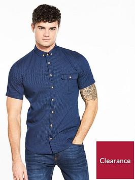 boss-print-short-sleeve-slim-fit-shirt