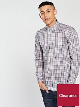 boss-check-long-sleeve-shirt