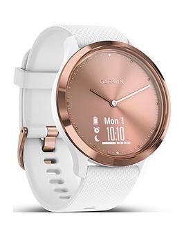 Garmin Vivomove Hr Sport Smartwatch - Rose Gold/White S/M thumbnail