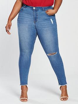 V By Very Curve Body Sculpt Skinny Jean - Light Mid Wash