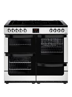 New World Vision 100E Electric 100cm Wide Range Cooker - Stainless Steel