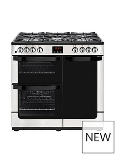 new-world-visionnbsp90dftnbspdual-fuel-90cm-wide-range-cooker-stainless-steel