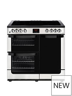 new-world-nw-vision-90e-electric-90cm-range-cooker-stainless-steel-with-connection