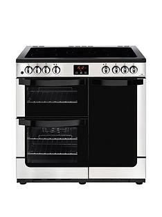 New World NW VISION 90E Electric 90cm Range Cooker with Connection - Stainless Steel