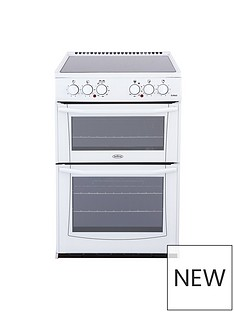 Belling BEL ENFIELD E552 55CM ELECTRIC CERAMIC DOUBLE OVEN WHITE