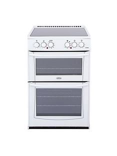 Belling BEL ENFIELD E552 55cm Electric Ceramic Double Oven - White