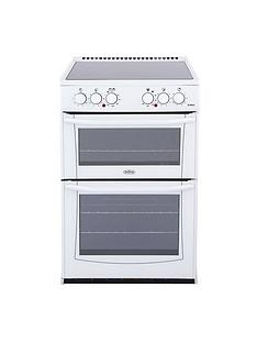 Belling Enfield E552 55cm Electric Ceramic Double Oven with Connection - White