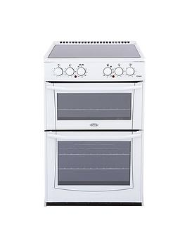 belling-enfield-e552-55cm-electric-ceramic-double-oven-with-connection-white