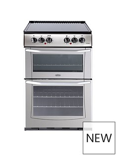 Belling BEL ENFIELD E552 55CM ELECTRIC CERAMIC DOUBLE OVEN SILVER