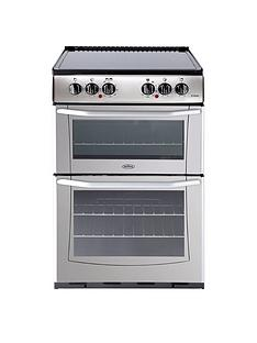 Belling EnfieldE552 55cm Electric Ceramic Double Oven with Connection - Silver