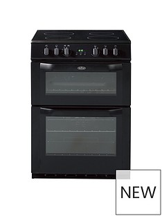Belling BEL FSE 60 DOP 60CM ELECTRIC CERAMIC DOUBLE OVEN BLACK