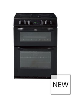 Belling BEL FSE 60 DOP 60CM ELECTRIC CERAMIC DOUBLE OVEN BLACK with connection