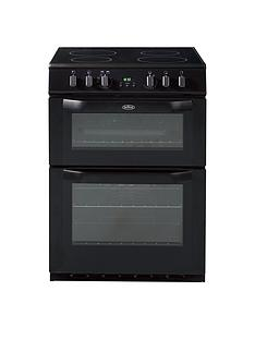 Belling BEL FSE 60 DOP 60cm Electric Ceramic Double Oven with Connection - Black