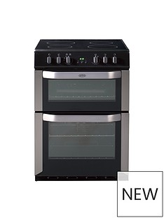 Belling BEL FSE 60 DOP 60CM ELECTRIC CERAMIC DOUBLE OVEN STAINLESS STEEL with connection