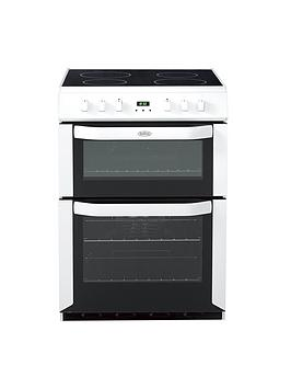 belling-fse60dop-60cm-electric-ceramic-double-oven-white