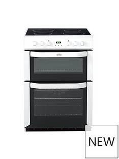 Belling BEL FSE 60 DOP 60CM ELECTRIC CERAMIC DOUBLE OVEN WHITE with connection
