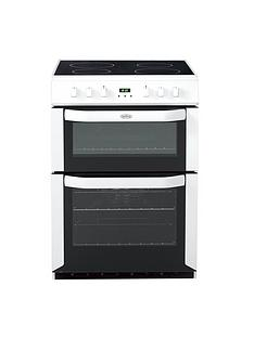 Belling BEL FSE 60 DOP60cm Electric Ceramic Double Oven with Connection - White
