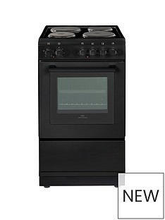 New World NW 50ES 50CM ELECTRIC SOLID PLATE SINGLE OVEN BLACK