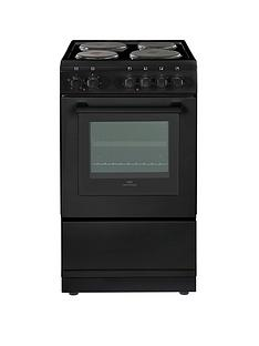 New World NW 50ES 50cm Electric Solid Plate Single Oven - Black
