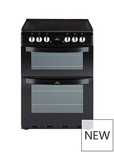 New World NW 601EDO 60CM ELECTRIC CERAMIC DOUBLE OVEN BLACK
