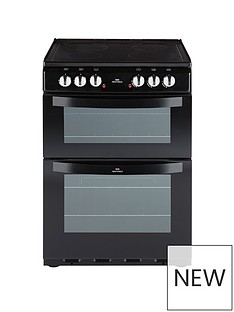 New World NW 601EDO 60CM ELECTRIC CERAMIC DOUBLE OVEN BLACK with connection