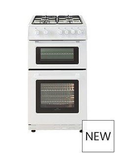 new-world-50gtc-50cm-wide-twin-cavity-gas-oven-cooker-white