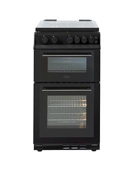 belling-fs50gdolnbsp50cm-wide-gas-double-oven-black