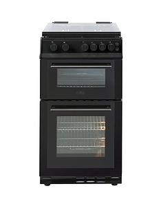 Belling BEL FS50GDOL 50cm Gas Double Oven with Connection - Black