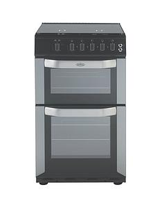 Belling FSG50DO 50cm Wide Gas Double Oven with Connection - Silver