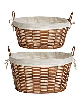ideal-home-natural-woven-set-2-oval-handled-baskets