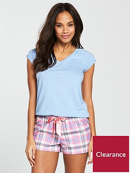 v-by-very-summer-check-short-pj