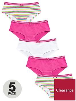 v-by-very-girls-5-pack-rainbow-stripe-shorties