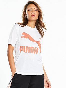 Puma Classics Logo Tee - White