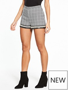river-island-check-pearl-hem-shorts