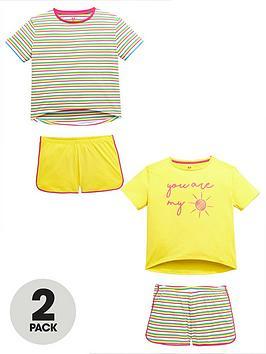 v-by-very-girls-2-pack-stripe-sunshine-pyjama