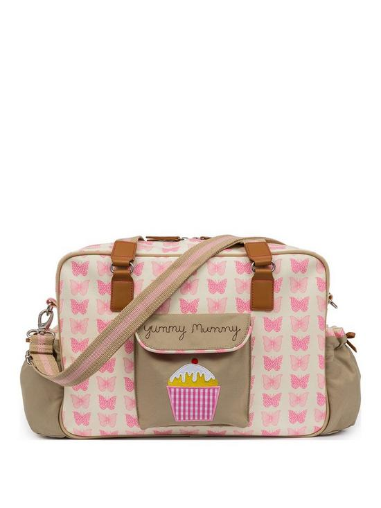 d6f43f1866 Pink Lining Yummy Mummy Changing Bag - Pink Butterfllies | very.co.uk