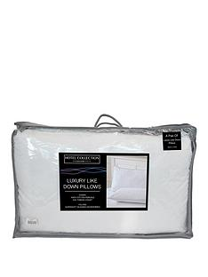 Ideal Home Pair of Luxury Like Down 100% Cotton Cover Pillows