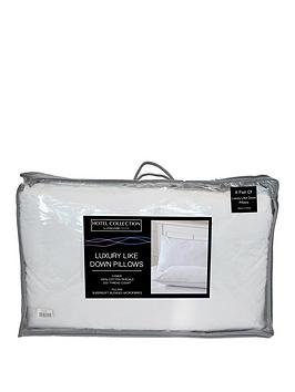 Ideal Home Luxury Like Down 100% Cotton Cover Pillows (Pair)