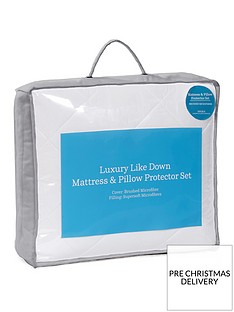 hotel-collection-luxury-like-down-mattress-and-pillow-protector-set