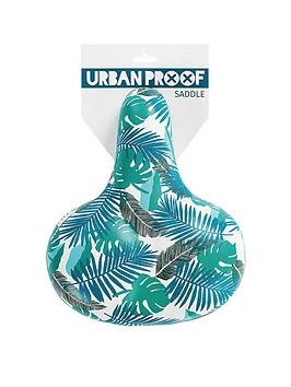 Image of Urban Proof Comfort Leaf Print Bike Saddle