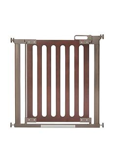 Fred Fred Pressure Fit Wooden Stairgate - Dark oak