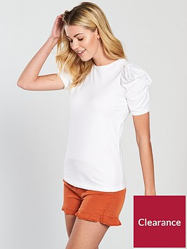 v-by-very-ruched-sleeve-t-shirt