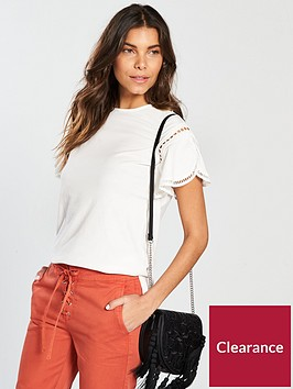v-by-very-ladder-trim-sleeve-top-off-white