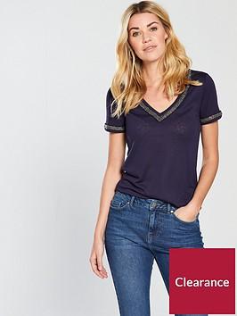 v-by-very-linen-embellished-neckline-top-blue