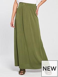 v-by-very-cupro-maxi-skirt-khaki