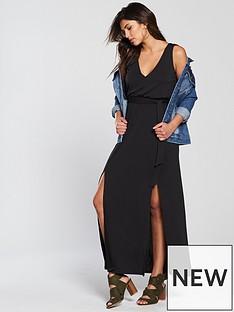 v-by-very-split-front-cupro-maxi-dress